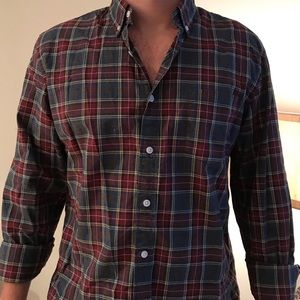 J Crew Flannel Patterned Button Down
